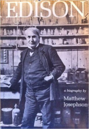 Edison by Matthew Josephson book cover