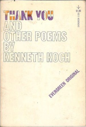 Thank You and Other Poems by kenneth Koch book cover
