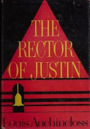 The Rector of Justin by Louis Auchincloss book cover