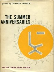 The Summer Anniversaries by donald justice book cover