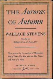 book cover the aurora of autumn by wallace stevens