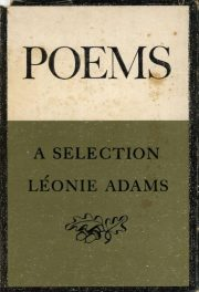 first edition cover of Poems A Selection by Leonie Adams