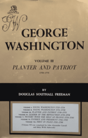 Douglas S. Freeman - George Washington book cover, 1952