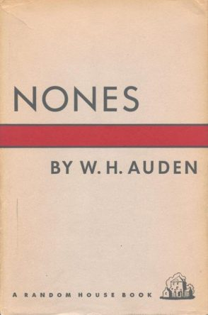 First edition cover of Nones by W. H. Auden