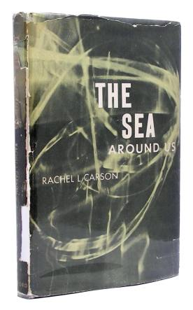 First edition cover of the sea around us by rachel carson