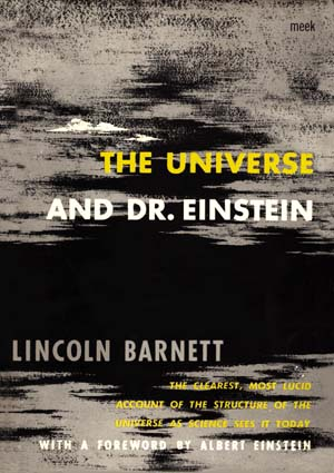 the universe and dr einstein by linclon barnett first edition book cover