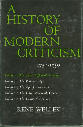 History of Modern Criticism by rene wellek book cover