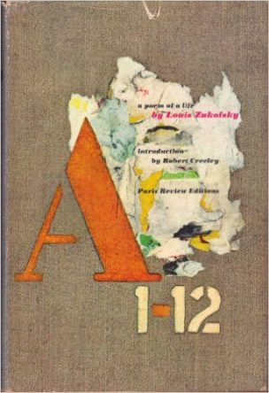 Louis Zukofsky a 1-12 book cover