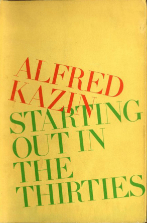 Starting Out in the Thirties alfred kazin book cover