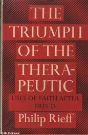 The Triumph of the Therapeutic by Philip Reiff book cover