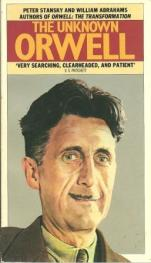 cover of The Unknown Orwell by Peter Stansky and William Abrahams