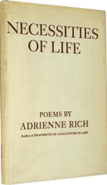 Necessities of Life by Adrienne Rich book cover