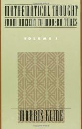 cover of Mathematical Thought from Ancient to Modern Times by Morris Kline