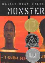 Monster by walter dean myers book cover