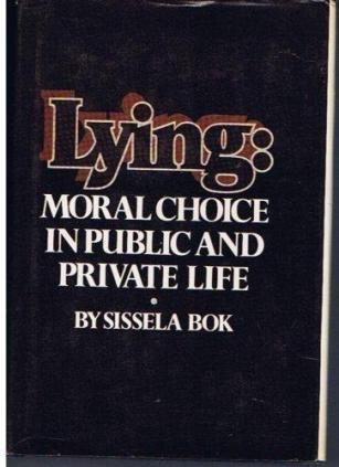 cover of Lying by Sissela Bok