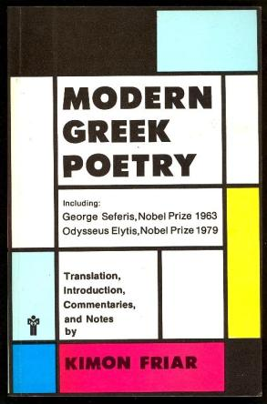 cover of Modern Greek Poetry by Kimon Friar