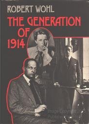 cover of The Generation of 1914 by Robert Wohl