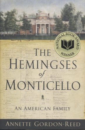 The Hemingses of Monticello by Annette Gordon-Reed book cover