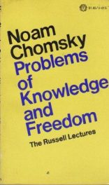cover of Problems of Knowledge and Freedom by Noam Chomsky