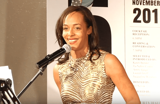 Lisa Lucas welcomes attendees at the 2016 5 Under 35 Celebration