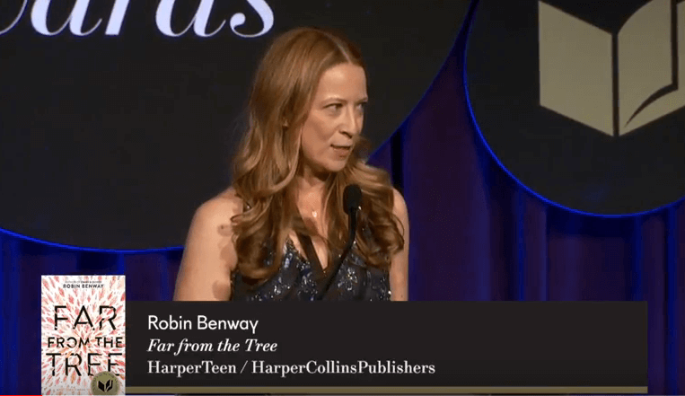 Robin Benway accepts the 2017 National Book Award for Young People's Literature (full speech)