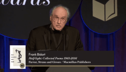 Frank Bidart accepts the 2017 National Book Award for Poetry (full speech)