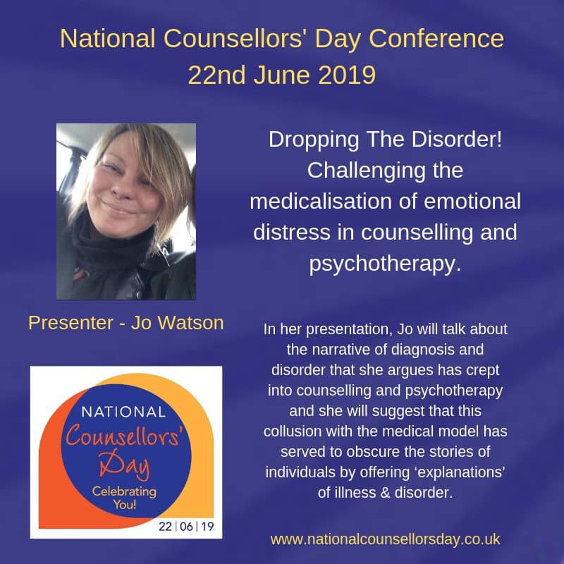 Jo Watson at National Counsellors' Day 2019