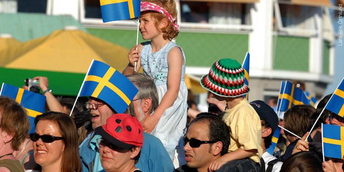 Celebración del Día Nacional en Skansen
