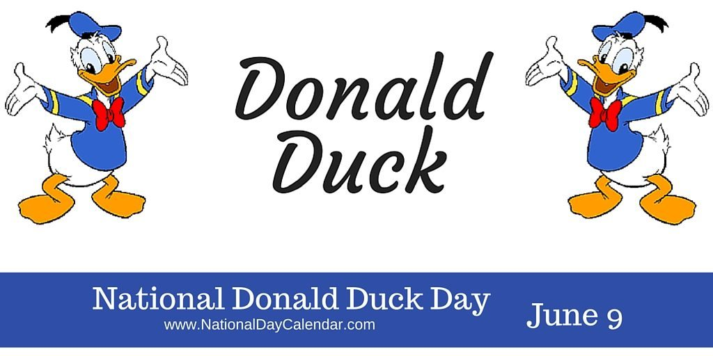 National Donald Duck Day June 9