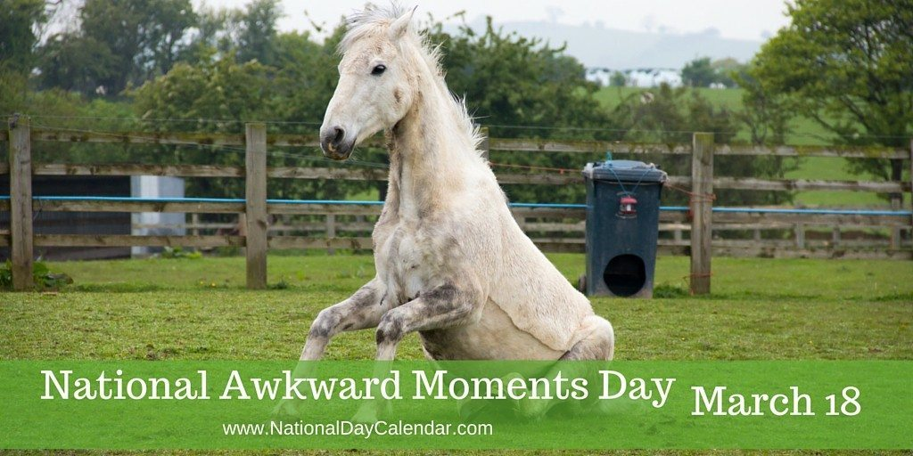 National Awkward Moments Day - March 18
