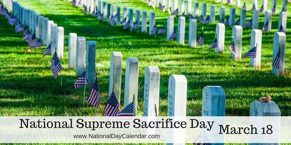 National Supreme Sacrifice Day - March 18