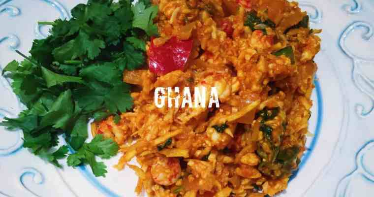 Ghanaian Jollof cauliflower rice with crayfish tails | Jollof Shinkafa | What is the national dish of Ghana?