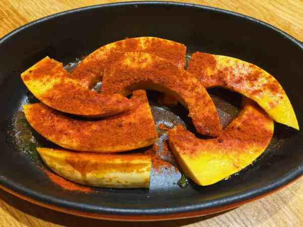 Paprika and Cayenne dusted pumpkin ready to roast | National Dish
