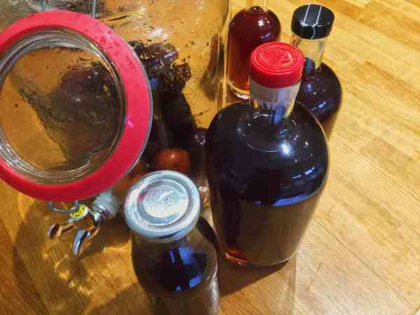 Rinse out some bottles to keep your plum gin safe