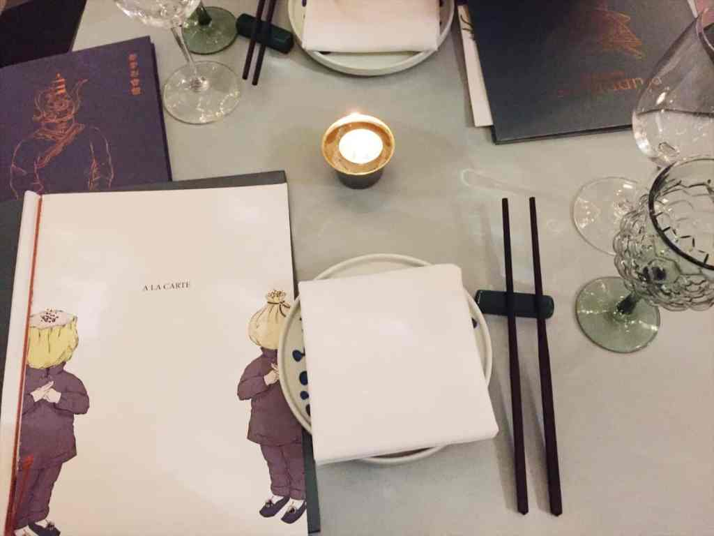 Duddell's London is rather artistic just check out the menu's