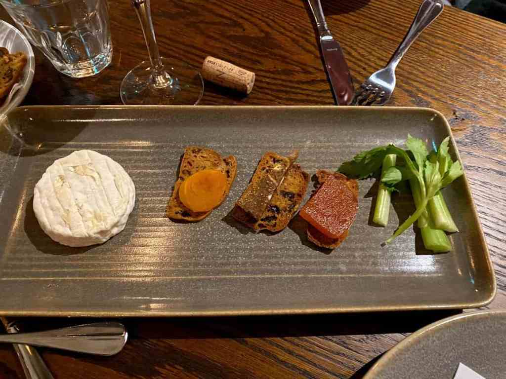 Cheese board at The Kings Head in Prestbury