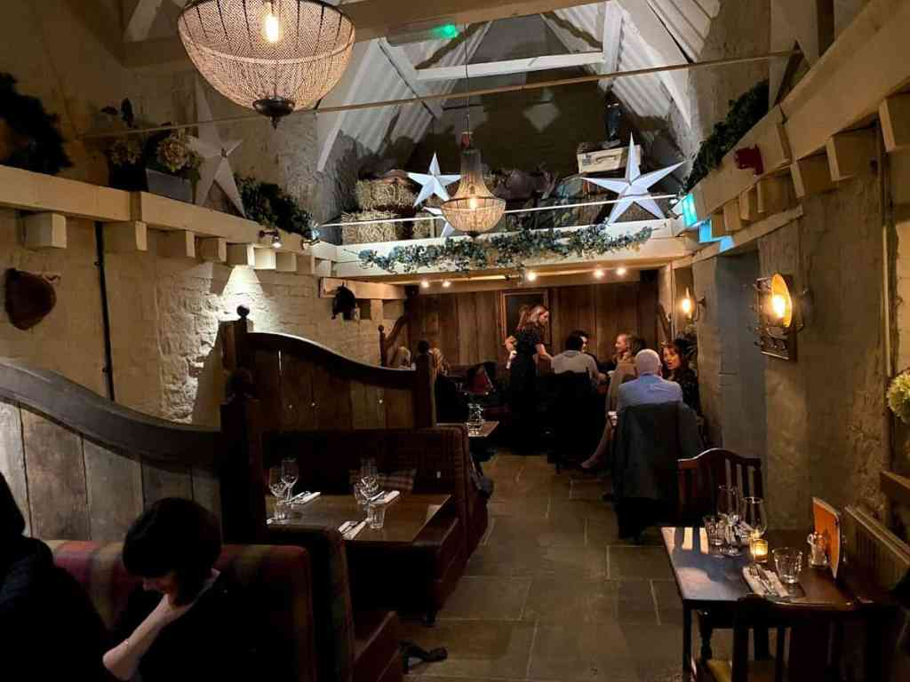 The Barn Room in Raymond Blancs, The Kings Head in Cheltenham