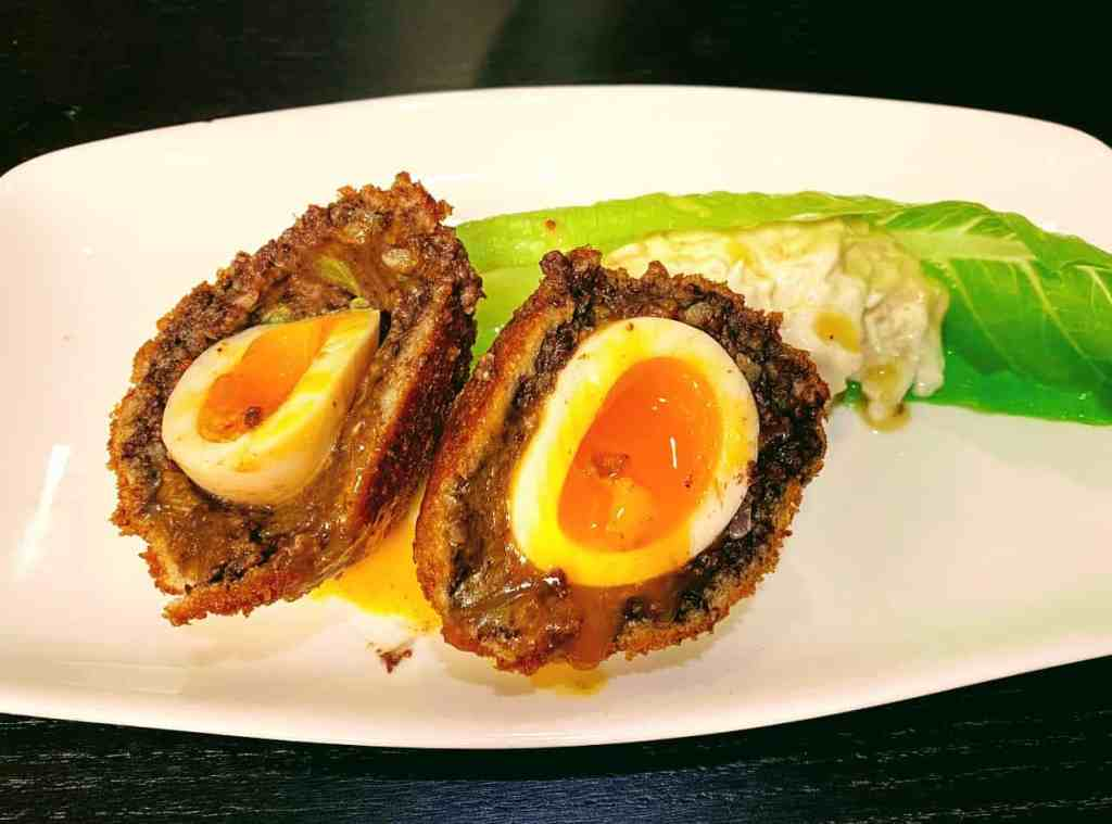 The Larder Restaurant Black Pudding Scotch Egg Cheltenham Montpellier Cotswolds