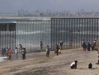 Donald Trump's border wall with Mexico has not yet been funding, instead Congress earmarks money to rebuild fences, like this one