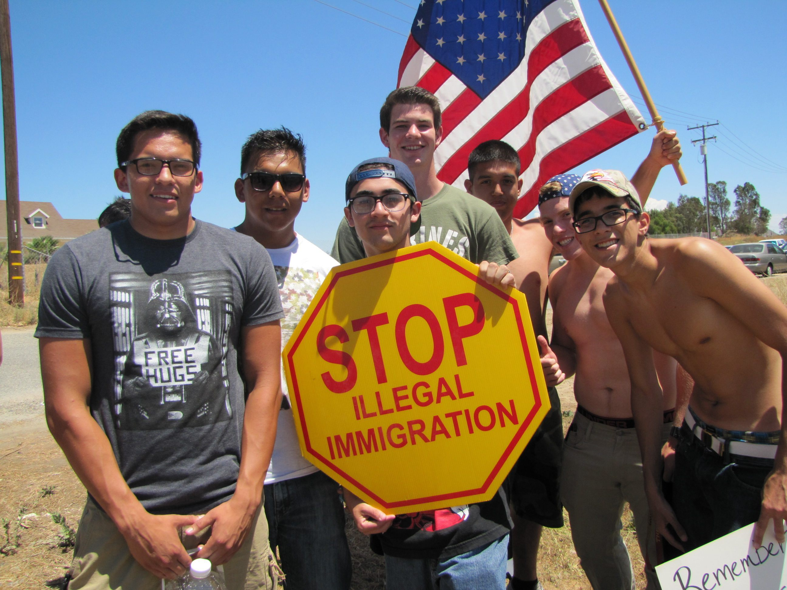 Hispanic Americans protest illegal immigration
