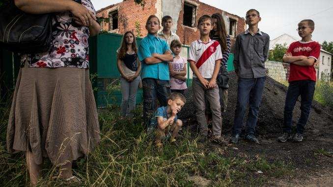 Ukrainian Refugees from the War In Donbass