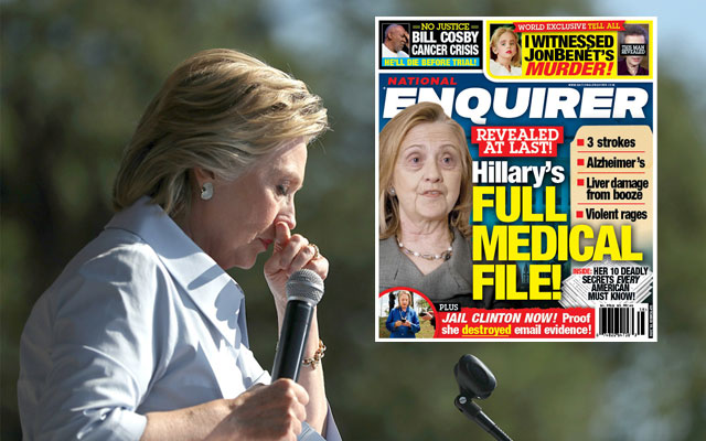 hillary clinton health issues national enquirer F
