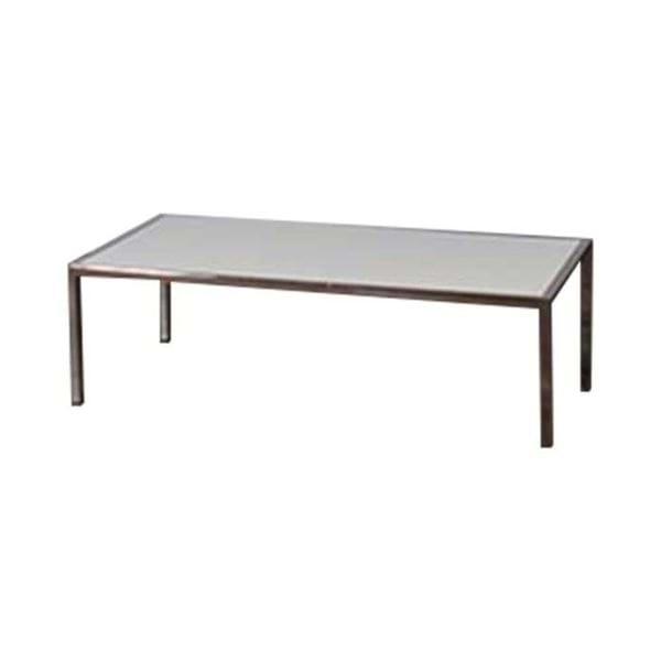 4ft chrome plexiglass coffee table