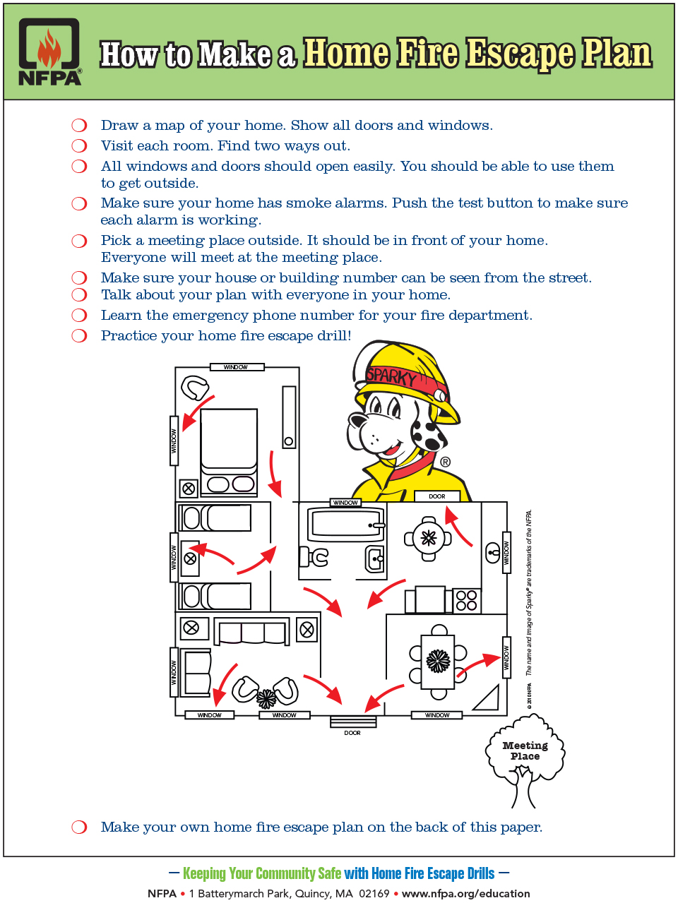 Draw Fire Evacuation Map