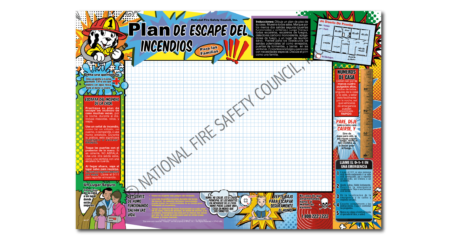 204f Home Fire Escape Plan For Families