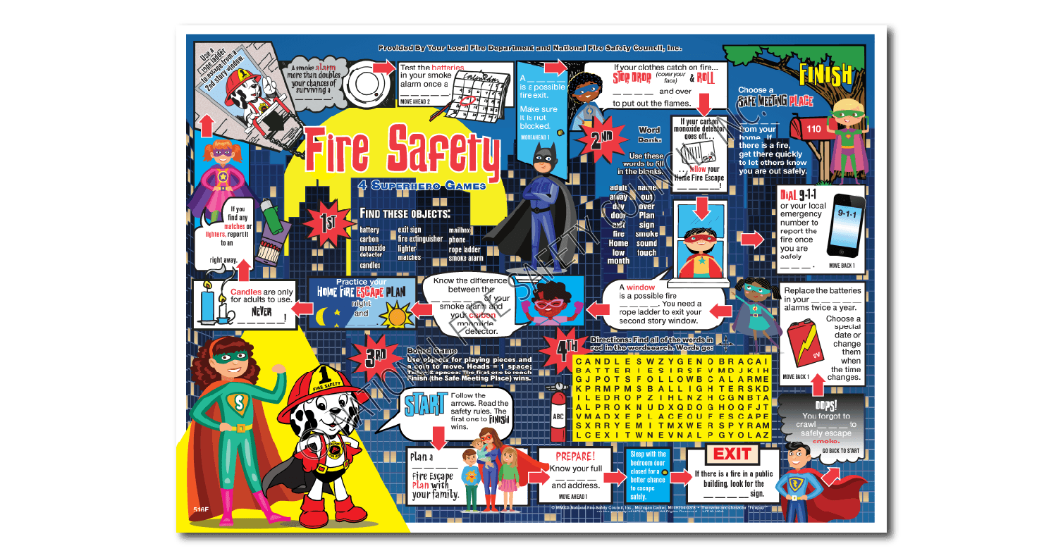 516f Firepup S I Spy Placemat