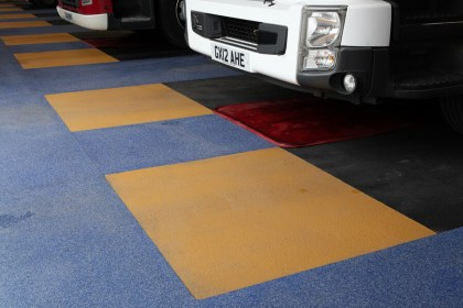 The National Flooring Co - resin flooring installation fire engine
