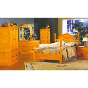aspen rustic wood bedroom set 8100 ml