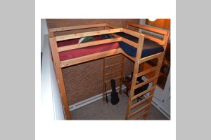 Wooden Bunk Any Size L Shaped Loft Bed Solid Wood 1000 Lbs Wt Any Size Loft Bed Solid Wood 1000 Capacity