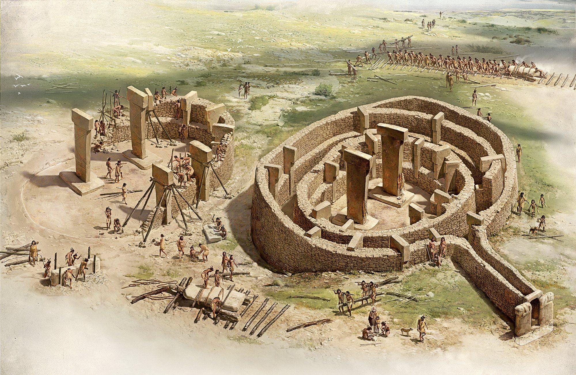 La construcción de un templo en Göbekli Tepe